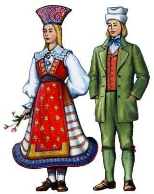 Традиционные костюмы эстонцев