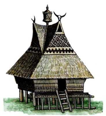 Традиционные жилища батаков