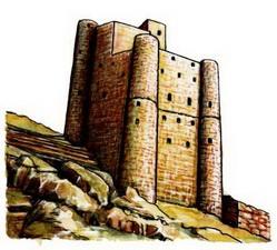 Арабы башенный дом в горной части