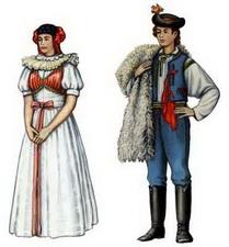 Чехи традиционный женский и мужской