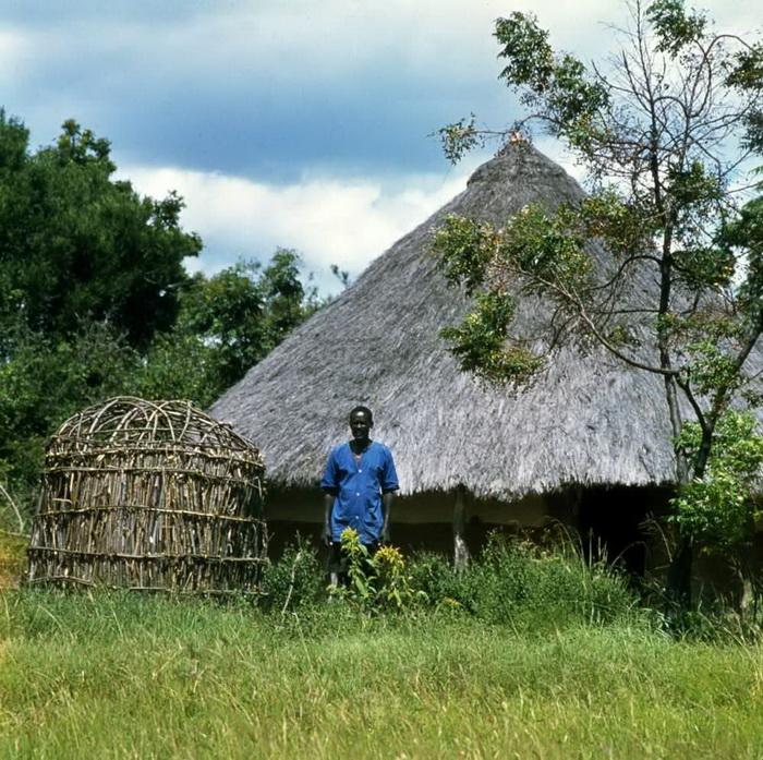 Традиционное жилище на берегу озера