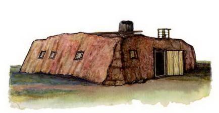 Якуты традиционное зимнее жилище
